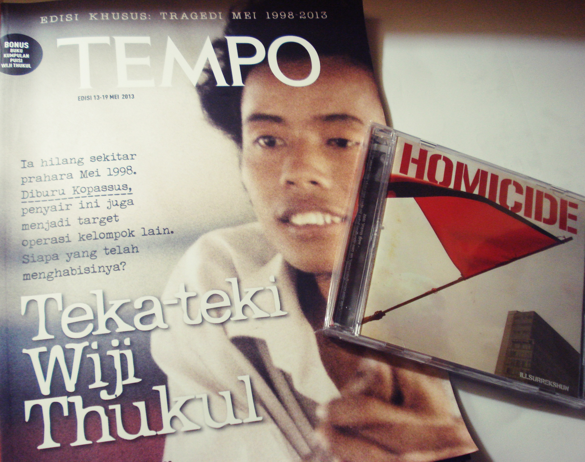 Tempo Edisi Khusus Tragedi Mei 1998 2015 Wiji Thukul LITTLE PISTON